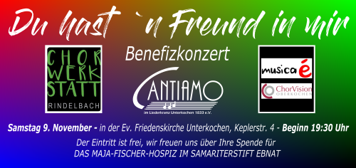 "Flyer Benefizkonzert ""Du hast 'n Freund in mir"""